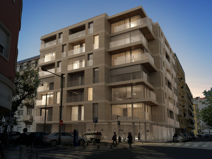 O Living Saldanha é compostode 30 apartamentos, num edifício moderno de 7 pisos. / JLL Portugal