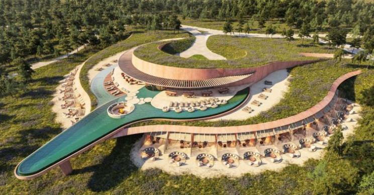 Vista aérea do projeto / Umay Melides