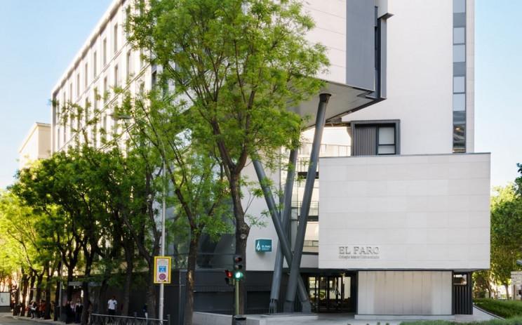Fachada da residência de estudantes El Faro, em Madrid, Espanha /  GSA