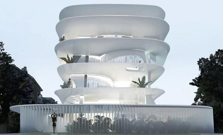 foi projetado pelo estúdio de arquitetura grego 314 architecture studio