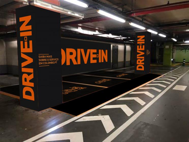 Exemplo do drive-in no centro comercial Colombo, em Lisboa / Sonae Sierra