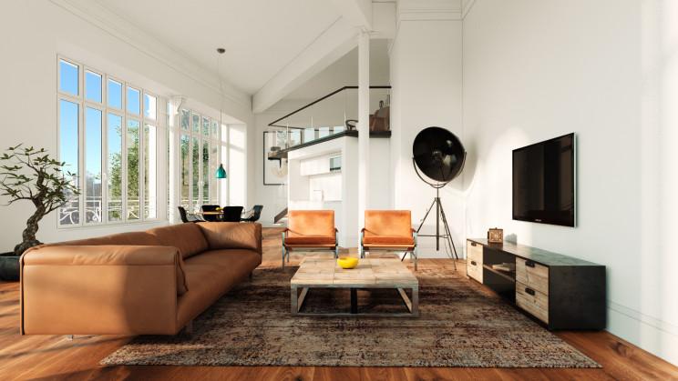 Imagem 3D de um dos lofts do Priority, em Alcântara / Inlighted