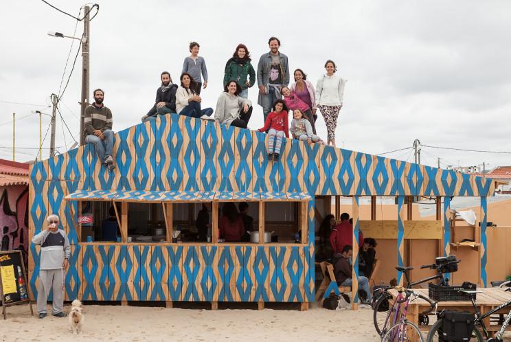 Casa do Vapor do ex-colectivo francês Exyzt, na Trafaria / Cortesia Garagem Sul/CCB