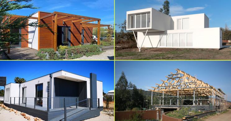 Créditos: em cima Discovercasa (à esquerda) e Fábrica das Casas (à direita)/ /em baixo Kitur (à esquerda) e Cosquel (à direita)