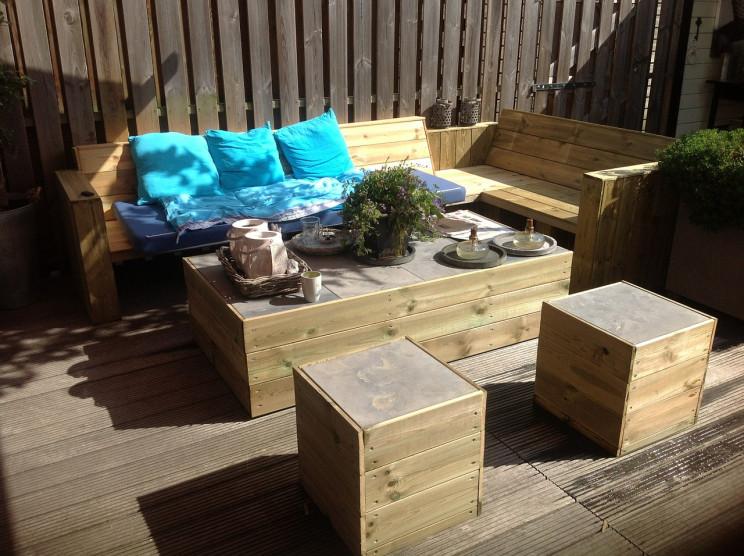 Criar espaços para relaxar no exterior da casa